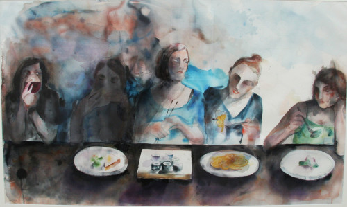 I can eat sushi. Watercolor on paper, 2011.