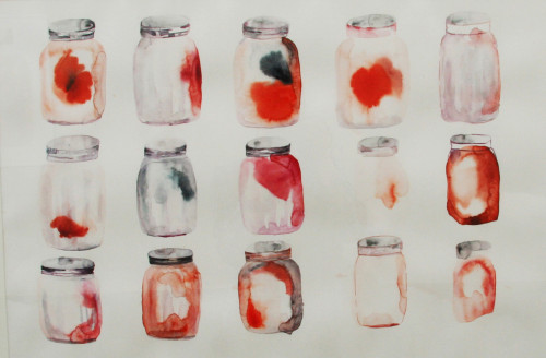 Jars. Watercolor on paper, 2011.